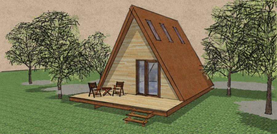 maison en bois triangle. Black Bedroom Furniture Sets. Home Design Ideas